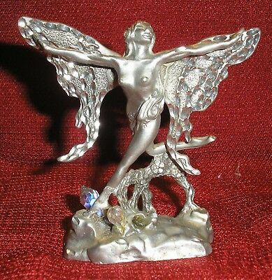 Pewter Fairy With Crystals