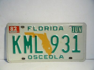 "2003 FLORIDA License Plate ""OSCEOLA COUNTY"" Clean!"