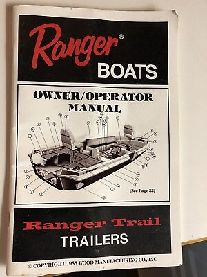 Ranger Boats Owner Manual 1990 363V
