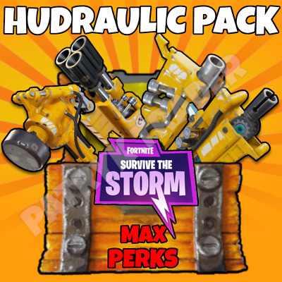 Fortnite | Hydraulic Weapons | Save The World Pack | 106 | MAX PERKS