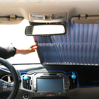 Car Retractable Curtain with UV Protection Front Windshield Aluminum Foil G8B4