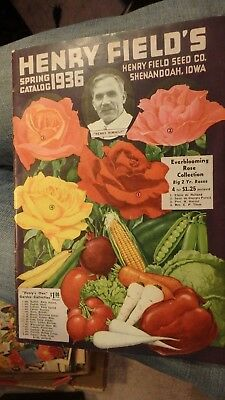 vintage 1936 spring Henry Field's seed  catalog-57 pages