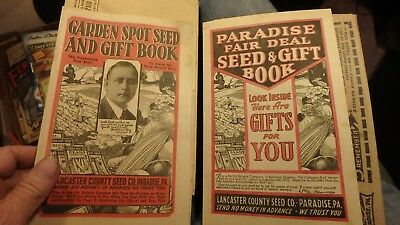 2 vintage catalogs Lancaster County seed co. Paradise, Pa gift books