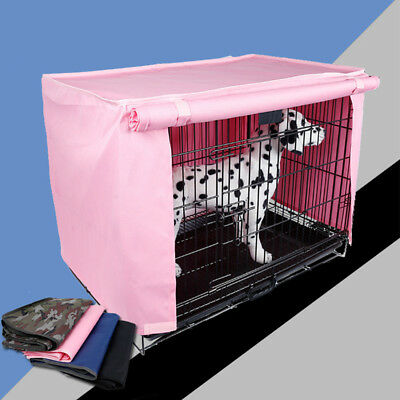Metal Wire Dog Crate Pet Puppy Cage Tray Kennel House COVER Breathable  POP
