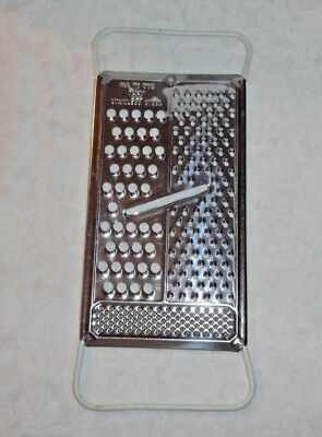 "Vintage Foley Stainless Steel ""all In One"" Vegetable Cheese Grater Slicer"