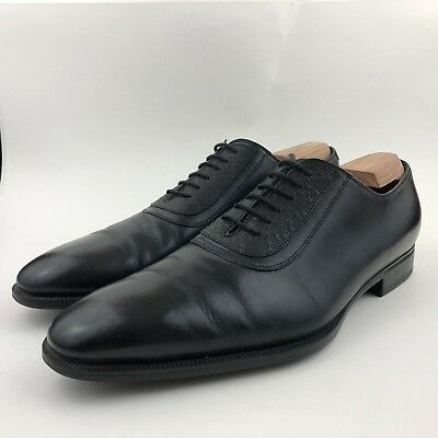 43f4e515a67 GUCCI Men s 9 Oxfords Mila Hilary Lux Diamonte Black Leather Dress Shoes   309027