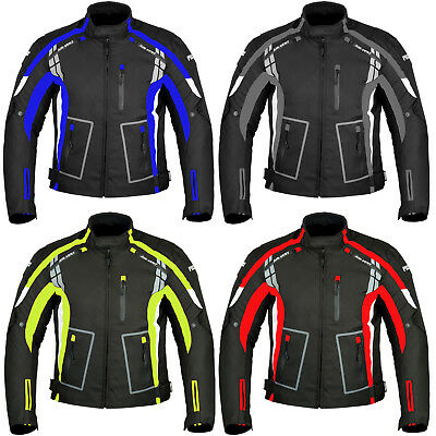 Mens Motorbike Jacket Waterproof Armoured Motorcycle Textile Jacket Coat Winter
