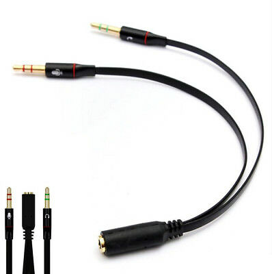Audio Splitter Kabel Y Adapter Kopfhörer Headset 3,5mm Klinke Stereo Computer SZ