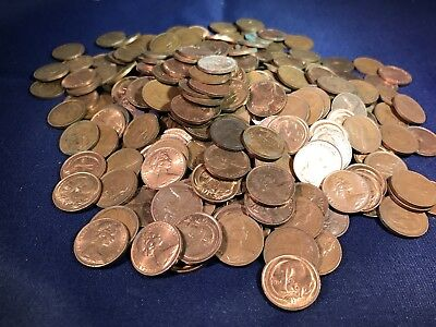 Australian 1 And 2 Cent 950 Grams From Hoard. Bulk. Not Checked For 1968 Or SD.