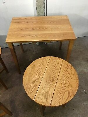 Vintage Retro Coffee Table With Nest Of Round Folding Side Tables