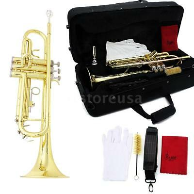 Trumpet bb or Concert Trumpet new Silver pro Brass Band Trumpets Golden K2Q0