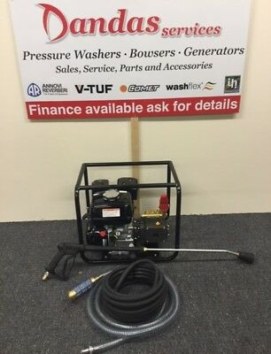 Honda GX200 Petrol Pressure Washer 180Bar/2700psi/12 Lpm/Frame with suction hose