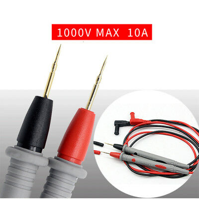 Home 1Pair Digital Multimeter Test Lead Probe Wire Pen Cable Needle Tip 1000V10A