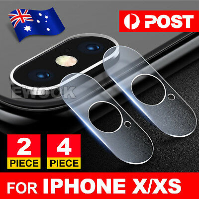 iPhone XS MAX X Camera Lens Tempered Glass Screen Protector 9H HD Thin For Apple