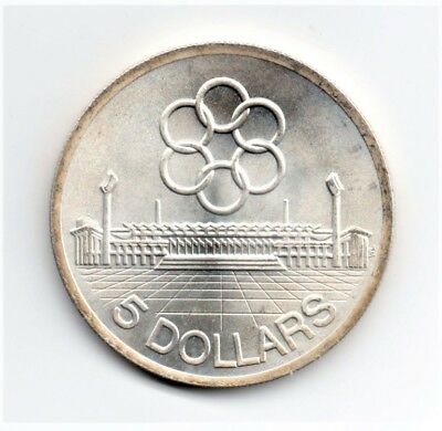 1973 Singapore 7th SEAP Games Silver Five Dollar Coin