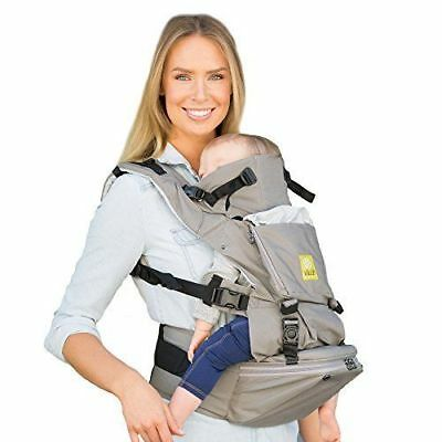 LILLEbaby Seatme Hip Seat Baby Carrier - Grey Cotton