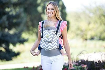LÍLLÉbaby 4 in 1 ESSENTIALS All Seasons Baby Carrier, Grey Chevron