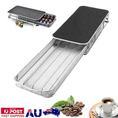 40 Chrome Coffee Capsule Pod Holder Storage Tower Rack For Dolce Gusto/Nespresso