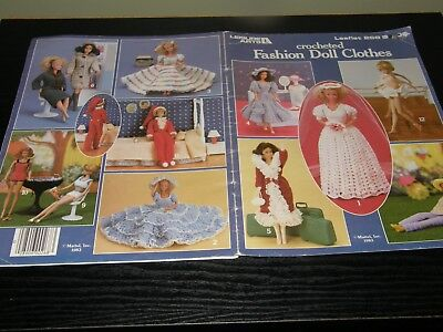 Leisure Arts Crocheted Fashion Doll Clothes Barbie  pattern Leaflet