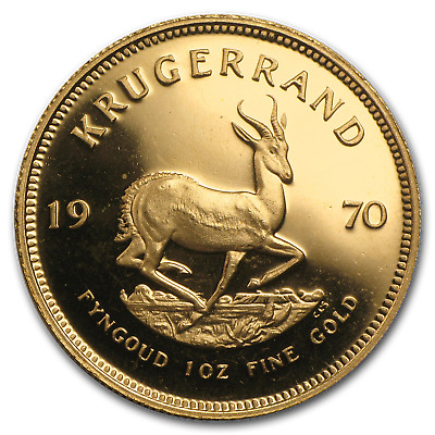 1970 South Africa 1 oz Proof Gold Krugerrand - SKU #23727
