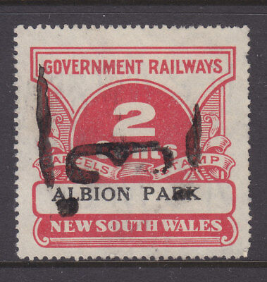 """RAILWAY STAMPS:   2c  NSW PARCEL STAMP  """" ALBION PARK """"  ."""