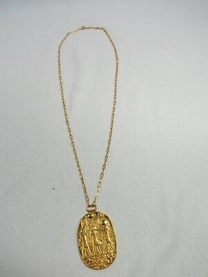 MMA 1976 King Tut Pendant Metropolitan Museum of Art Treasures of Tutankhamun