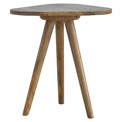 Scandinavian Nordic Solid Wood stool Side Table - Milking Stool Triangular desig