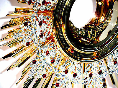 Kostbare Monstranz, Monstrance​, 57 cm NEU