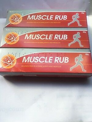 3 x  Muscle Rub Relieve pain in Aching joints & Muscles - 40g