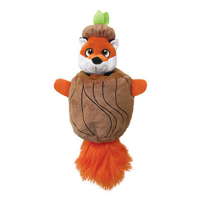 Kong Puzzlements Hiderz Fox Dog Toy Small | Interactive Squeaky Tug Christmas