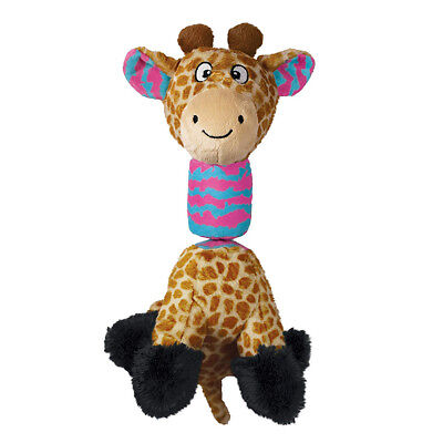 Kong Stretchezz Tugga Giraffe Dog Toy Small | With bungee spring Squeaky Tug