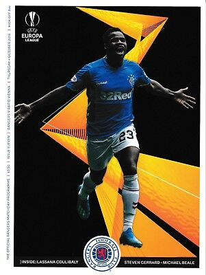 Rangers v Rapid Vienna 2018/19 Europa League brand new football programme