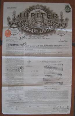 CITY OF LAHORE (Ellerman) Old Shipping Document- NICE GRAPHICS