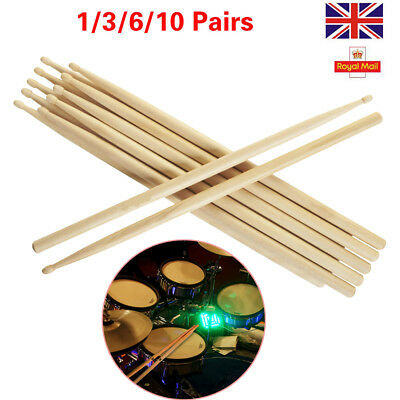 "Pro Drum Sticks 5A 16"" Drumsticks Maple High Quality Wood Premium Percussion"
