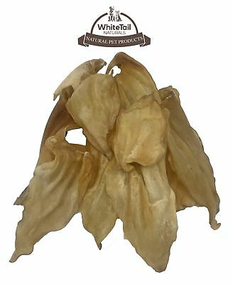 WhiteTail Naturals Dried Buffalo Cow Ears Dog Chews (12 Pack) Natural Pet Tre...
