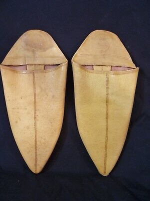 Vintage Native American Leather Deerskin Moccasins Colorado Indians Signed