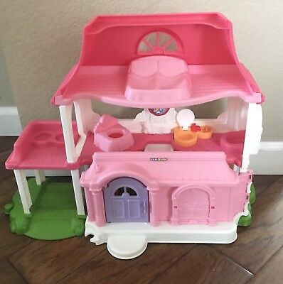 Fisher Price Little People Happy Sounds Sweet Home Doll House Van