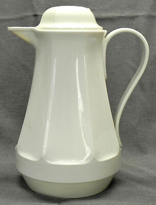 """Thermos Coffee Butler #430 """"Christa"""", 1 qt. Carafe Pitcher, White, Germany, Exc."""