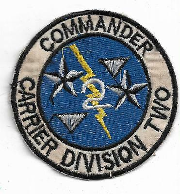 US Navy COMMANDER CARRIER DIVISION TWO CARDIV 2 - Vietnam Vintage Patch
