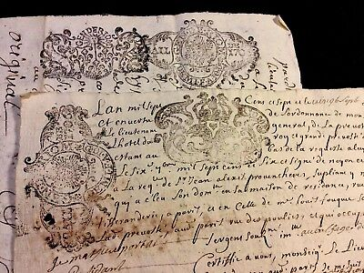 Lot Of Two Documents 1707, 1709
