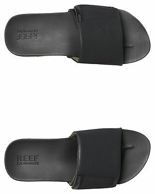 New Reef Men's Mens Cushion Bounce Slide Rubber Synthetic Black