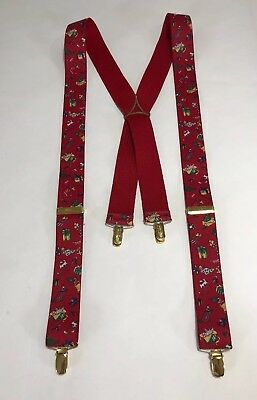 Germany Christmas Holiday Fabric  Suspenders