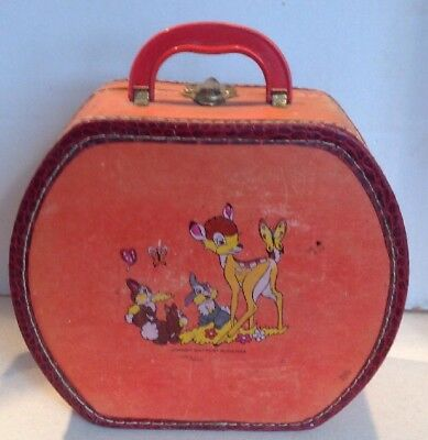 Walt Disney Productions Rare Vintage DONALD DUCK BAMBI Travel Suitcase