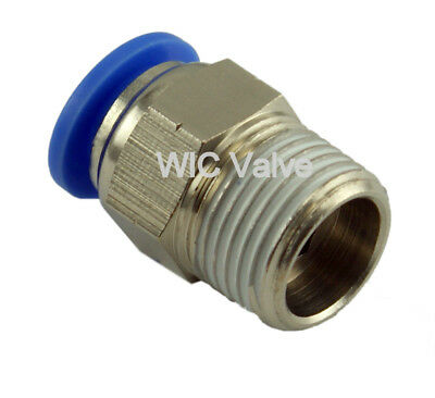 """Male Straight Connector Push In To Connect Fitting Tube OD 1/8"""" X NPT 1/4"""" 5pcs"""