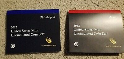 2012 United States Mint Uncirculated Coin Set - Denver and Philadelphia