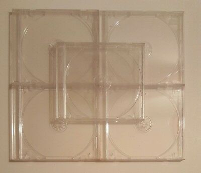 5 Lot of Clear Standard Cases Holder Jewel Case Cover For CD & DVD