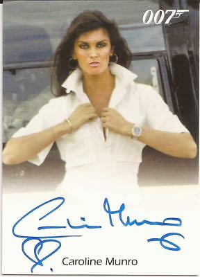 2016 007 James Bond Archives Spectre Caroline Munro autograph Naomi