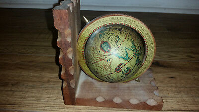 Vintage Style World Globe on Woodent Stand made in Korea