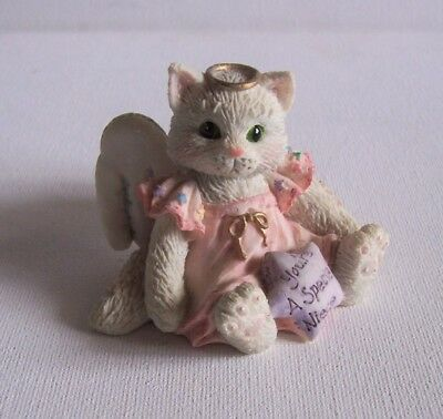 """1994 Calico Kittens """"you're A Special Niece"""" Angel Cat Collectible Figurine"""