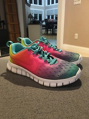 dbcc66bfe8b9e ... norway nike free express gs running shoes girls sz 1.5 rainbow gradient  running shoes bb8a4 36ee0